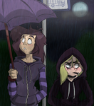 Bus Stop Lovers by feathers-Ruffled