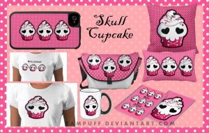 Skull Cupcake Zazzle Products by YamPuff