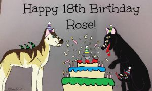 Happy Birthday Rose, you're 18! (2013) by BrownSwissAndLove