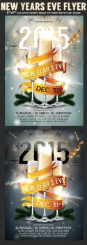 New Year Party Flyer Template by Hotpindesigns