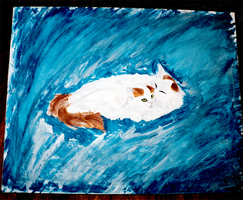 Old Cat Painting 06 by yanagi-san