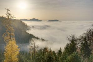 In the sea of clouds 2 by duncan-blues