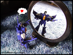 Thundercracker Meets Mirror by TwinTwosGirl