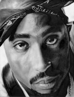 A new tupac portrait by ruddiger
