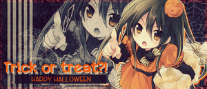[Sign #4] Trick or treat?! by sandrareina