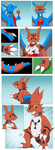 Comission: Digimon Candy (Guilmon TF) by PhoenixWulf