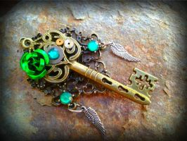 Heaven's Emerald Fantasy Key by ArtByStarlaMoore