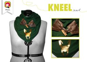 'KNEEL' scarf by RidaChan