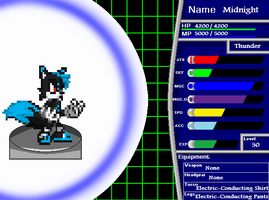 Midnight The Wolf RPG Stats by SilverKats101