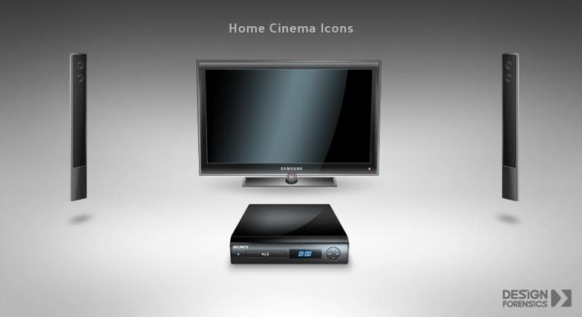 Home Cinema Icons by DESIGN-FORENSICS