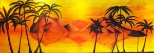 Sunset in Paradise (mural) by A-D-McGowan