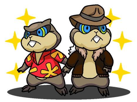 Shiny Patrat + Chip 'n Dale Rescue Rangers by shawarmachine