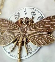 Dragonfly Necklace Close Up by SteamDesigns