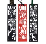 Halloween Papercut Bookmarks: Horror Novels by freaky-dragonlady