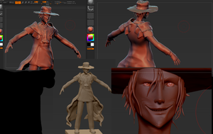 Alucard Sculpt W.I.P by Unclesatan