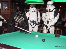 Darth Vader Playing Pool by PatriciaRodelaArtist