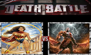 Wonder Woman vs. Kratos by ScarecrowsMainFan