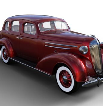 1936 AM SedanBody Red  by JGreenlees