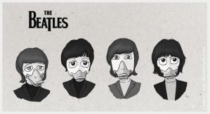The Beatles as ducks by Loony-Lucy