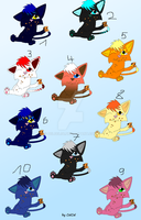 Cooki Cat Adopts (0/10 taken) by CelCel98