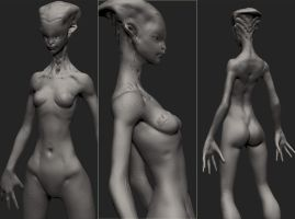 zbrush character alien by Anocha