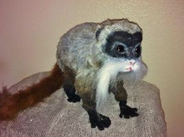 Posable Emperor Tamarin Monkey Plush by SabrePanther