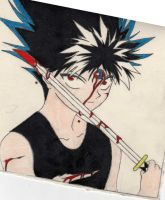 Blooded Hiei by Hieiskittygirl