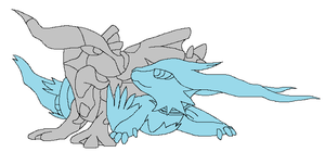 zekrom and reshiram base by embea