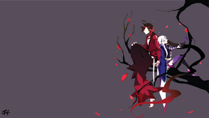 Romance in Edo (Katanagatari) Minimalist Wallpaper by slezzy7