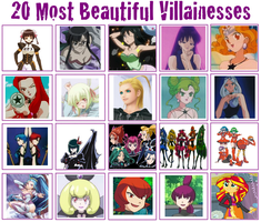 AJ's Top 20 Most Beautiful Villainesses by ajpokeman