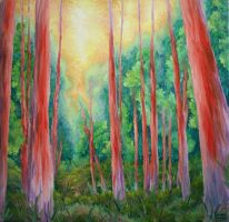 The Redwood Forest (Commission - Sold) by Dunn95