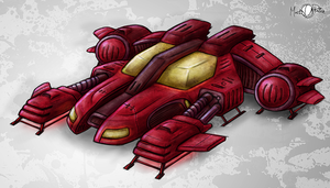 Sci-Fi Sports Car by Mark-MrHiDE-Patten