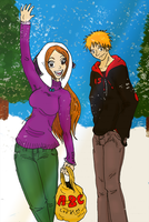 IchiHime: Snowtime Delivery by RomaniaBlack
