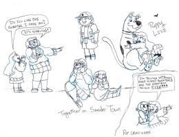 Gravity Falls meets Scooby Doo by brensey