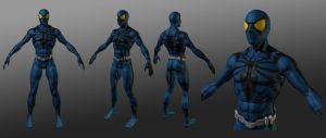 Spiderman Blue 3D WIP by RedHeretic