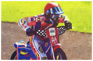 Speedway Painting by Piechi