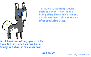 .:New Species, Tail Lamas:. by blueberry-tea