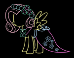 Fluttershy - At The Gala #2 - Vector by gebos97531