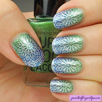 Silver-stamping-over-gradient by Painted-Fingertips