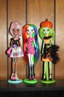 3 Monster High custom dolls by rainbow1977