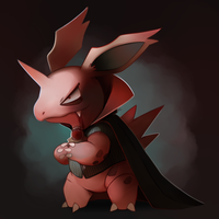 Vampire Nidorino by HappyCrumble