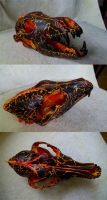 SOLD - Lava Coyote Skull by Samishii-Kami