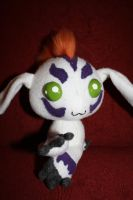 chibi gomamon plush fancy pose by orangecorgi