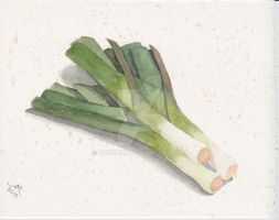 leeks by Annezon