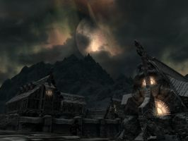 Moon above Windhelm by SereglothIV