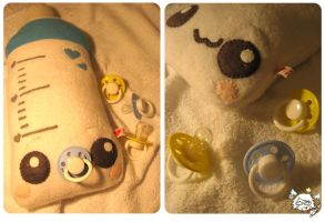 Baby Bottle Plush by kickass-peanut