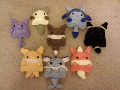 Crochet Eeveelutions by MLEann