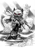 ROCKET RACCOON commission by OXOTHUK