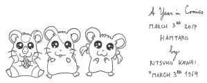 March 3rd - Hamtaro by kanyiko