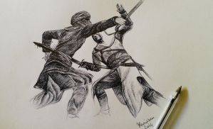 Altair in fight by Musiriam